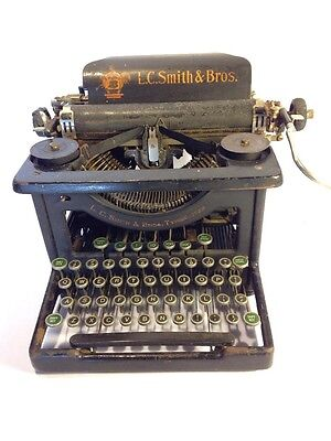 Vintage L.C. Smith & Corona Type Writer For Parts or Repair Antique