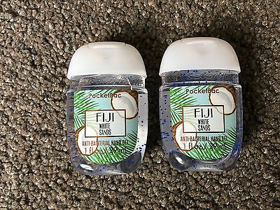 Bath & Body Works 2x Anti-Bacterial Hand Gel USA Exclusive Fiji White Sands