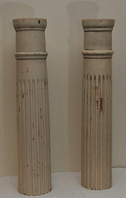 """PAIR of ANTIQUE WOOD COLUMNS 24"""" TALL"""
