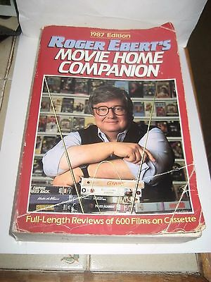 1987 'movie Home Companion Reference Book By Film Critic Roger Ebert