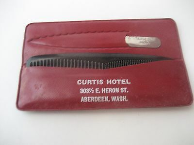 Vintage Curtis Hotel/notorious Brothel/bordello Aberdeen Wa Giveaway Comb/file