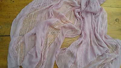 Women's lightweight scarf, table scarf, shabby chic, baby girl, photo prop