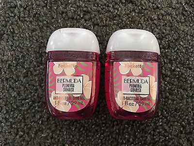 Bath & Body Works 2x Anti-Bacterial Hand Gel USA Bermuda Plumeria Sunrise