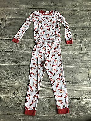 Pottery Barn Kids Boys Pajama Set Elf On The Shelf Size 6 Red/White