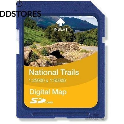 Satmap National Trails Carte UK sur carte SD