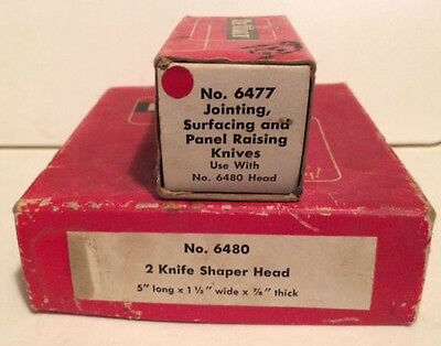 Vintage DeWalt #6480 head w/#6469 cutters Also included box set #6477 knives