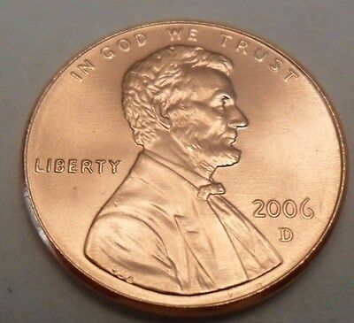 2006 D Lincoln Memorial Cent / Penny  **FREE SHIPPING**