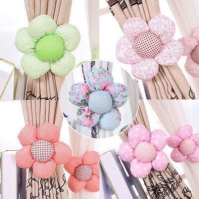 Sun Flower Baby Kid Girl Nursery Bedroom Curtain Tie Back Holder Buckle Hook  FO