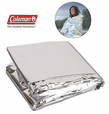 Coleman Emergency Blanket Protection from Cold Camping Hiking Outdoor First Aid