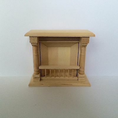 Dolls House Fireplace in Unfinished Wood 1:12 Scale