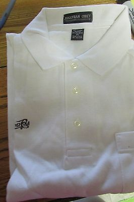 Golf Shirt  Size Xl    Pepsi Cola    White    Nip     (3404)