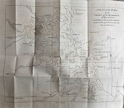 1775 REVOLUTIONARY WAR newspaper MAP BOSTON Mass before BATTLE LEXINGTON CONCORD