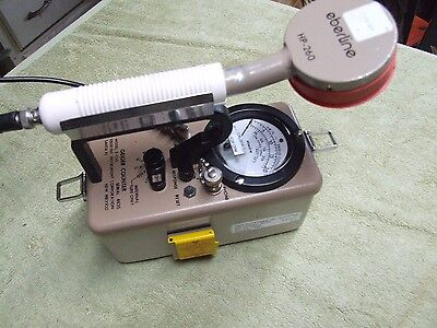 Eberline E-520 with HP260, Geiger counter survey meter radiation detector, works