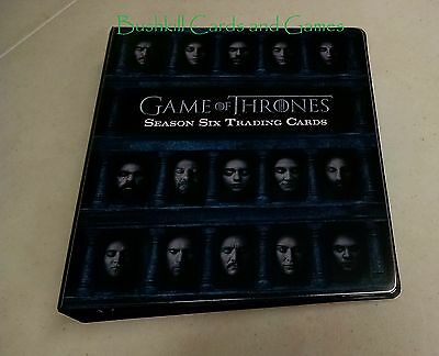 Game of Thrones Season 6 Complete Mini-Master Set - Hall of Faces, Foils, Binder