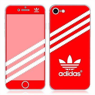 Iphone 7 Red Adidas  PVC Skin Decal sticker 4.7 inch Front and back