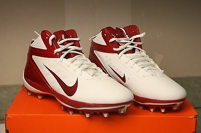 the latest 8be68 47dd2 NEW Mens 12 NIKE Alpha Talon Elite 3 4 Mid TD White Red Football Cleats