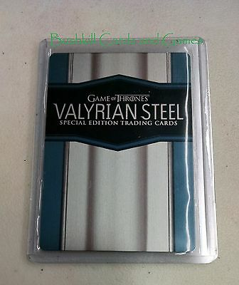 Game of Thrones Season 6 Valyrian Steel Metal Case Topper Card CT1 Promo