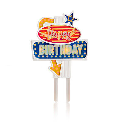 NEW Suck UK flashing happy birthday cake topper by Until