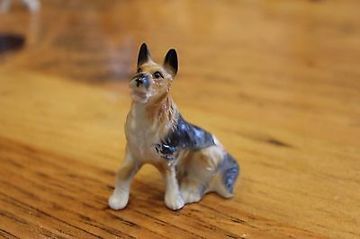 Vintage Bone China Miniature German Shepherd Dog Figurine
