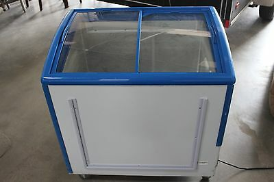 Freezer Showcase XS-208 Curved Sliding Glass Reach In Freezer with LED lighting