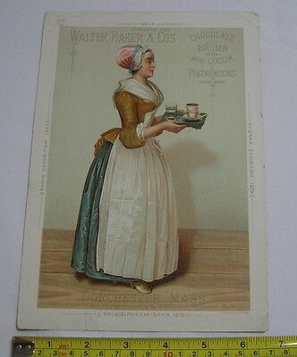 Walter Baker & Co's Broma and Cocoa Victorian Trade Card