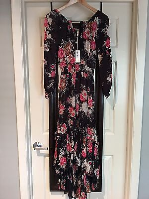 spell and the gypsy collective Jaggar Maxi Dress Black Size XS BNWT