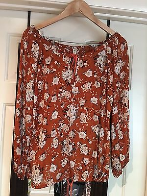 spell and the gypsy collective Gypsy Dancer Blouse Maple Size S New Without tags