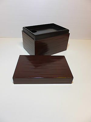 Japanese Lacquered storage box for tea tool. CYHA-BAKO