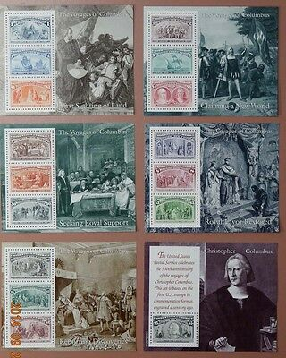 Scott #2624 Set of Six Columbus Souvenir Sheets ( F. V. - $16.34 )