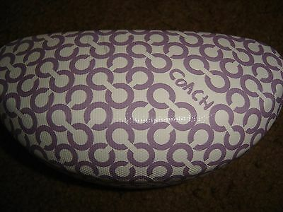COACH designer purple clam shell case for sunglasses w/original cleaning cloth!!