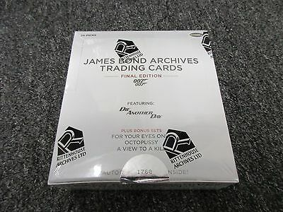 2017 James Bond Archives The Final Edition Trading Cards Factory Sealed Box + P1
