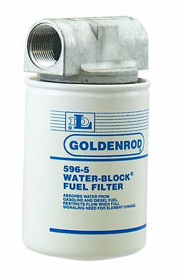 """OpenBox GOLDENROD 596 Canister Water-Block Fuel Tank Filter with 1"""" NPT Top Ca"""