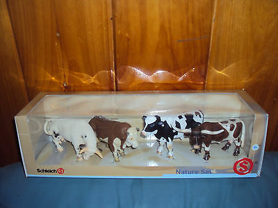 Schleich Nature Set of 4 Bulls Retired Boxed Lot
