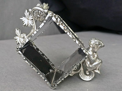 Antique Victorian Figural Silverplate Meriden B. Cherub Napkin Ring Signed #333