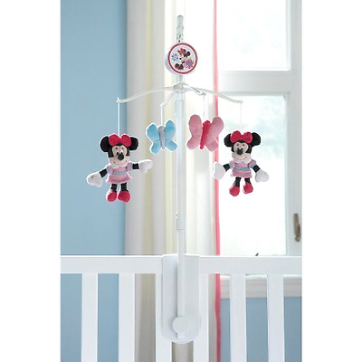 Disney Baby Minnie Mouse Musical Mobile Baby Toy Crib Nursery Decor Butterfly