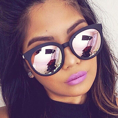 Women Sunglasses Vintage Classic Men Fashion Shades Round Mirror Clear Lens New