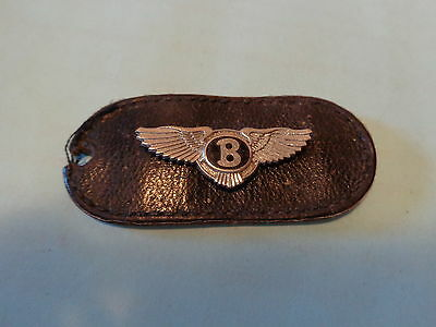 Bentley Automobile Logo Wings with Leather ? Key Fob