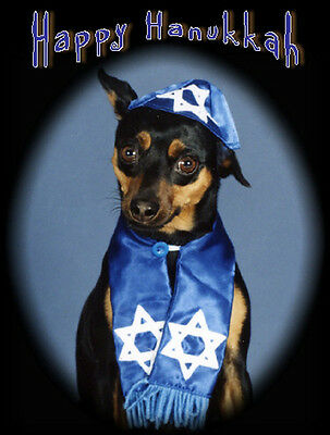Pet Hanukkah Greeting Cards:Dog Mini Pinscher