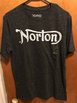 NORTON MOTORCYCLES Britain ~ Men's Small Athletic Fit ~ NEW ~ Logo ~ T Shirt