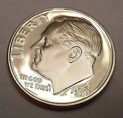 1996 S Roosevelt *90% Silver Proof* Dime **free Shipping**