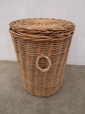D15023 Cane Clothes Laundry Hamper Basket Toybox