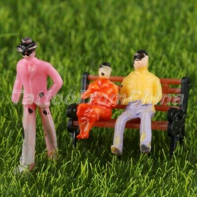 100pcs Colorful Model Passengers Family Figures Train Scenery Layout 1:75 Scale