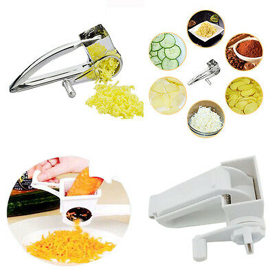 Stainless Steel Cheese Grater Rotory With Container Hand-Crank Rotary Grater NEW