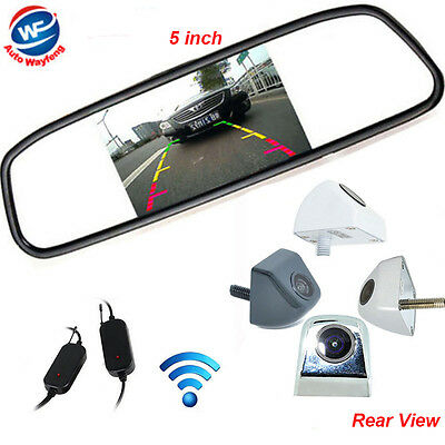 """5"""" TFT LCD Monitor Rear View System Wireless Backup Reverse Camera Night Vision"""