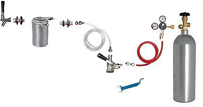 Kegerator Beer Jockey Box keg single Faucet Draw 50' Coil Cooler Full Kit
