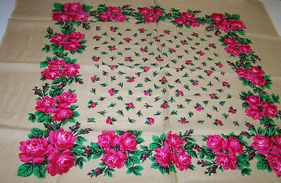 """Tan Tablescarf - 30"""" x 30"""" lovely in pure wool - made in Austria"""