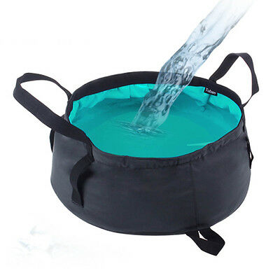 New Portable Water Basin Folding Washbowl Collapsible Sink Camping Bucket Fish