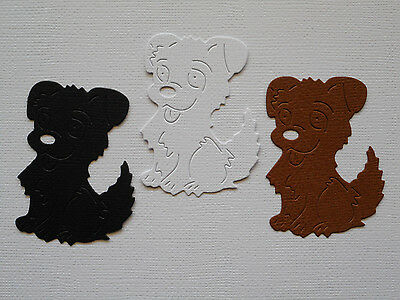 Dog Puppy Paper Die Cuts x 10 Scrapbooking Card Topper Embellishment - NOT a DIE