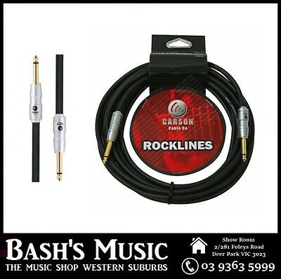 Carson Guitar Cable Lead 10FT Heavy Duty Straight to Straight Noiseless