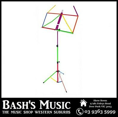 Xtreme Rainbow/harlequin Music Book Sheet Stand Multi Coloured MS109H